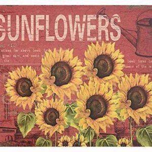 SIGNT Sign Designs Six Sunflowers Retro Vintage Ti